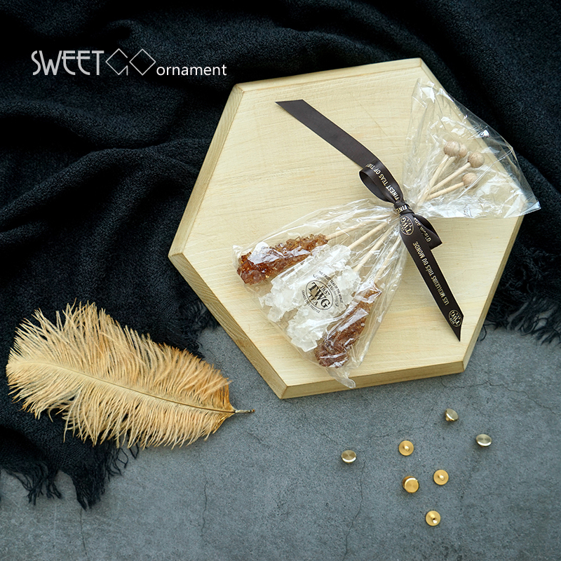 SWEETGO Wood cake holder polygon tray vintage Chopping block Handle pizza board Nordic cupcake food photography props tools