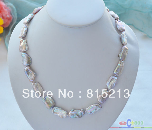 N778 NATURE lavender DENS keshi REBORN pearl necklace % Discount AAA