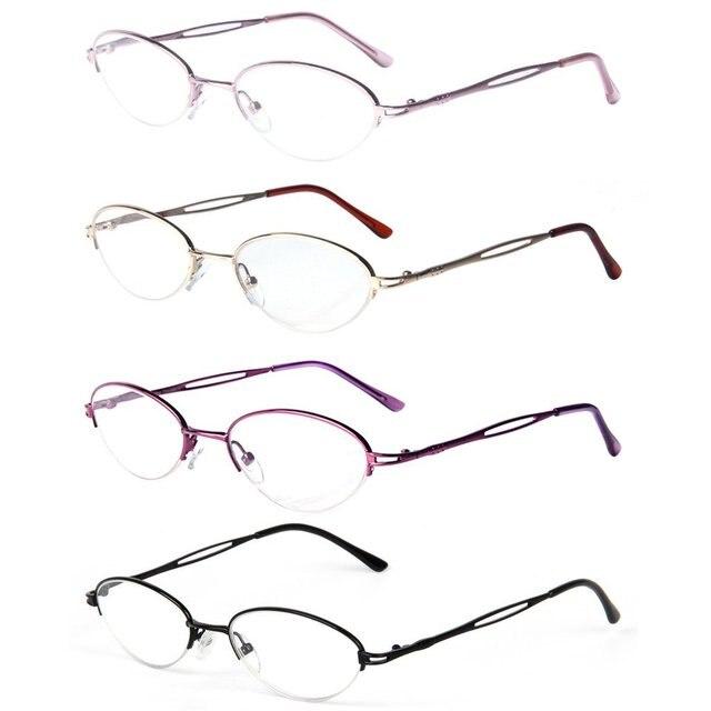 e074d0a8d490 Liansan Reading Glasses Reader for Women 4 Pairs Set Quality Metal Half  Frame Reading Glasses L731 1.25 1.50 1.75 2.00 2.25 3.0