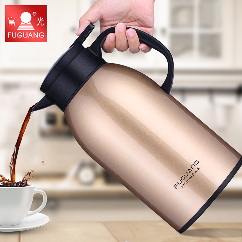 Household thermos pot 2L large capacity 304 stainless steel European vacuum insulation kettle Cup thermos bottle stainless steel vacuum coffee insulation pot