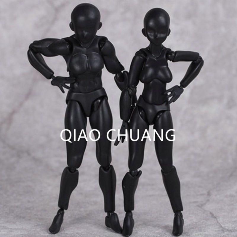 Новый мультфильм подвижный Figma черный архетип он/она мужской женский 13 см ПВХ фигурку ...