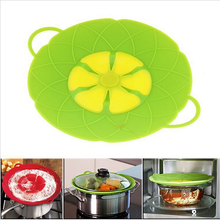 Kitchen Accessories Novelty Silicone lid Spill Stopper Cover For Pot Pan Cooking Tools