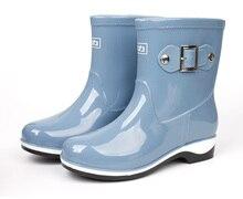 2017 New arrival Rain Boots Rubber Women Ankle Boots Casual Platform Shoes Woman Warm Flats Women Fashion water shoes