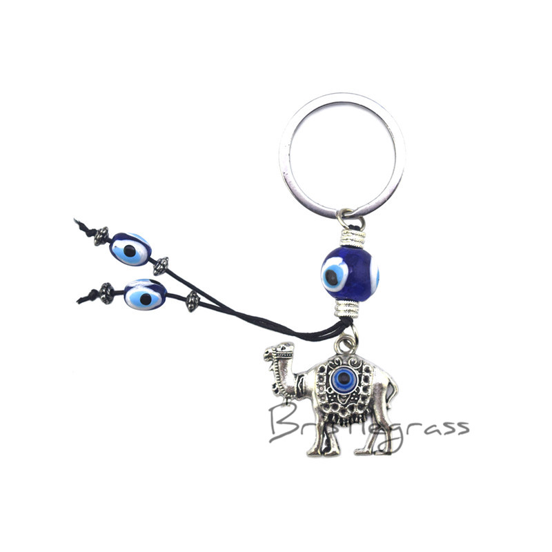 Key Chains Jewelry & Accessories Hospitable Bristlegrass Turkish Blue Evil Eye Camel Keychain Key Chain Ring Holder Amulets Hanging Pendant Lucky Charms Blessing Protection