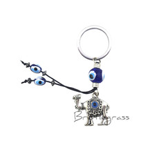 BRISTLEGRASS Turkish Blue Evil Eye Camel Keychain Key Chain 57d67cc41