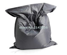dark grey fatball lazy boy beanbag chair with waterproof polyester , good quality never tear bean bag sleeping chair