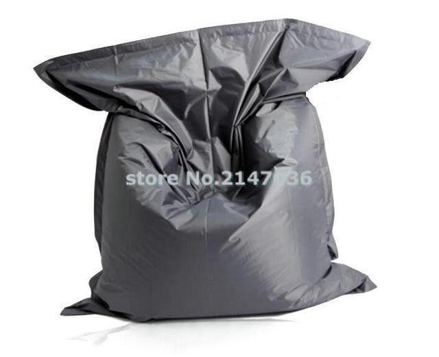 Dark Grey Fatball Lazy Boy Beanbag Chair With Waterproof Polyester Good Quality Never Tear Bean Bag Sleeping