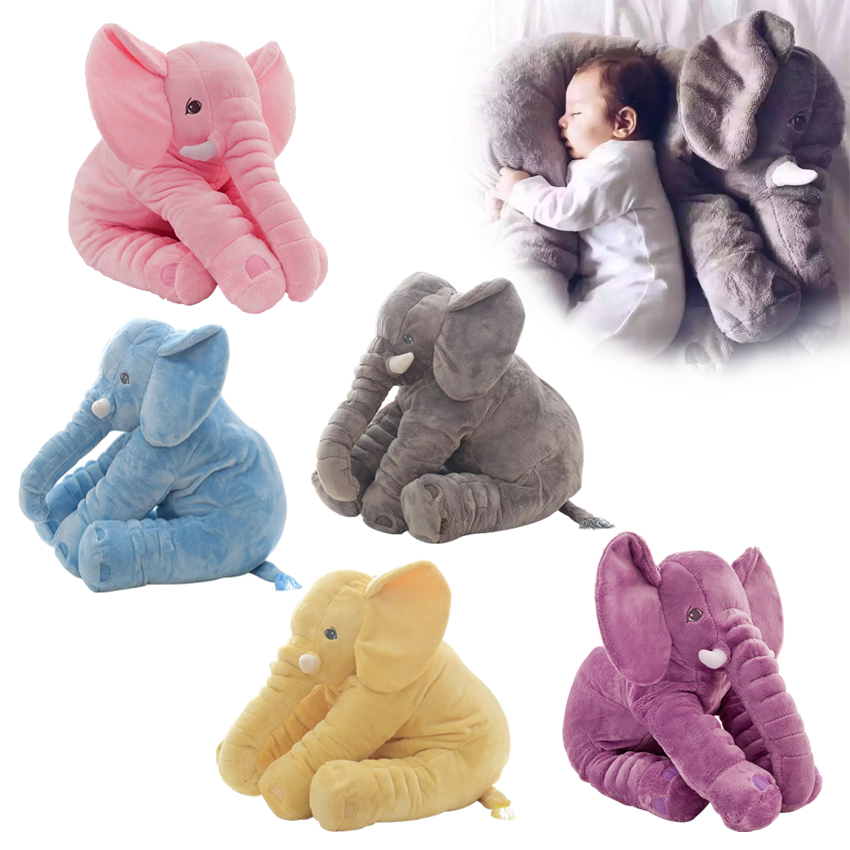 40/60cm Fashion Baby Animal Plush Elephant Doll Stuffed Elephant Plush Soft Pillow Kid Toy Children Room Bed Decoration Toy Gift