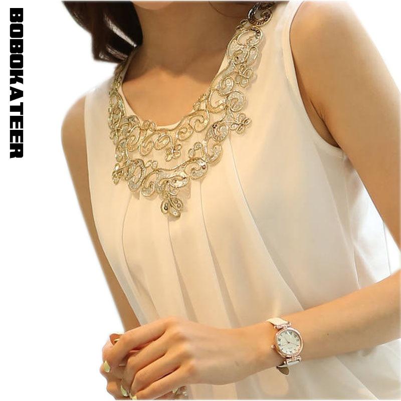 BOBOKATEER Summer tops vetement femme chiffon blouse blusas s
