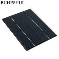 BUHESHUI 5 W 6 V Célula Solar Policristalino Del Panel Solar DIY Solar Sistema Battey Cargador 210*165 MM 10 unids Al Por Mayor Envío Gratuito