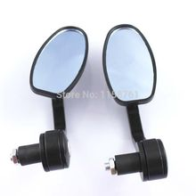 New 7/8″ Aluminum Rear View Side Mirror Handle Bar End Oval Black fits for Motorcycle