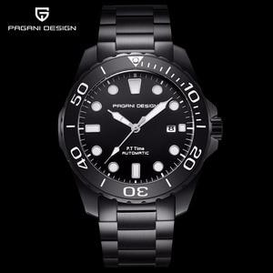 Image 1 - Pagani Mechanical Automatic Mens Watch Sport Black Fashion military waterproof Watch Men steel Male wristwatch Relogio Masculino