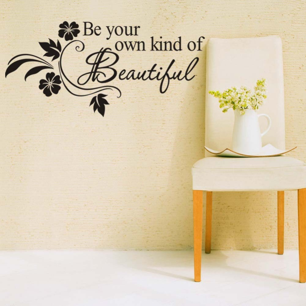 DIY Be Your Own Kind Of Beautiful Quotes Vinyl Wall Sticker Modern ...
