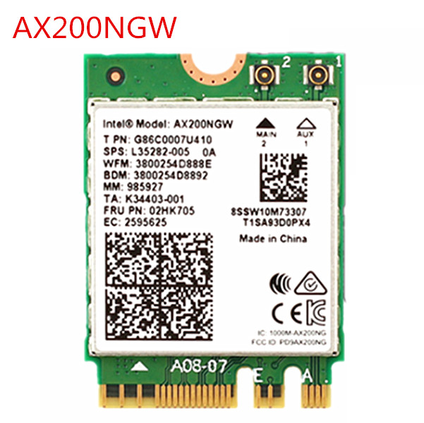 Band 1730Mbps Wireless AX200NGW NGFF M.2 Bluetooth 5.0 Wifi Network Card 2.4G/5G 802.11ac/ax For Intel AX200 Better 9260(China)
