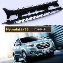 Для Hyundai ix35 2010-2017 Автомобиля Подножки Авто Подножка бар Педали Высокое Качество Новый Круговой частиц модель Нерф бары