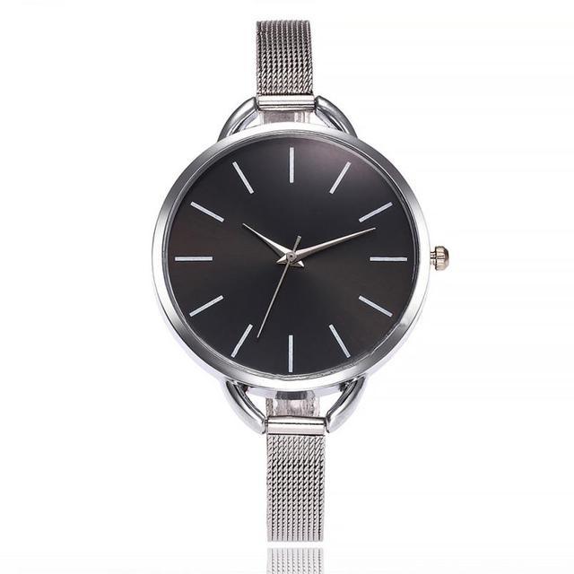 Vansvar Watches Woman Fashion Casual Creative Quartz Wristwatches Stainless Stee