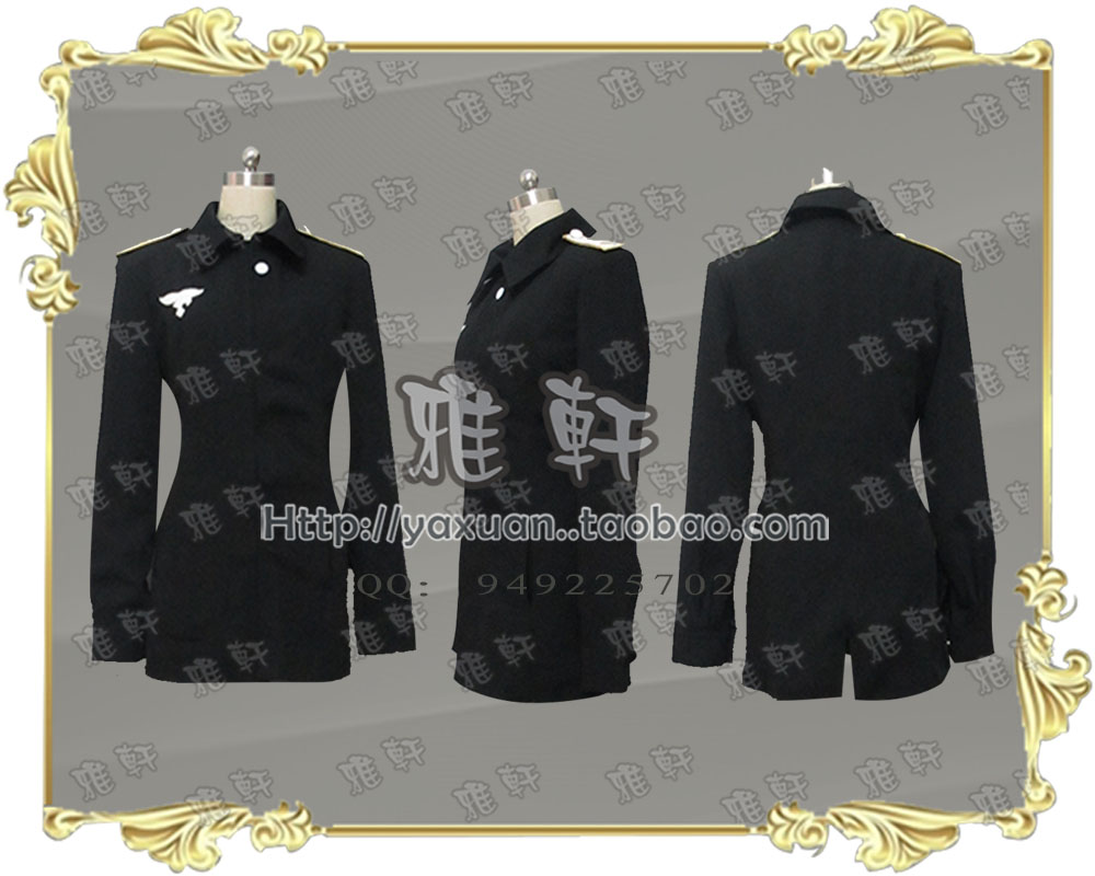 STRIKE WITCHES Erica Hartmann Cosplay Costume Custom Any Size