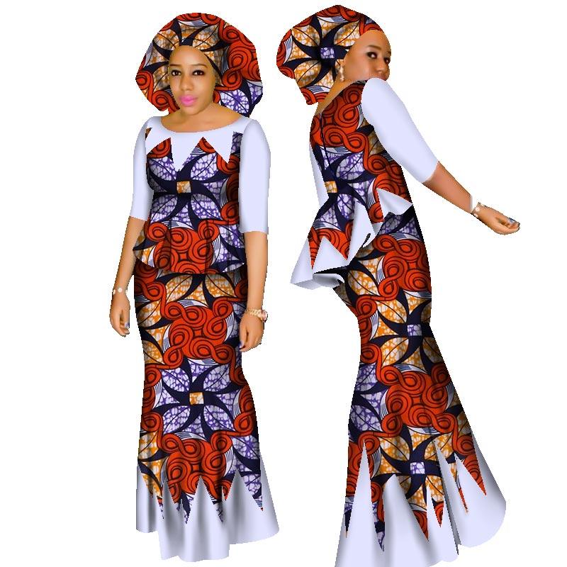 Hight Quarlity 2019 Afrikë për Femra Afrikë Set Dashiki Pambuku - Veshje për femra - Foto 2