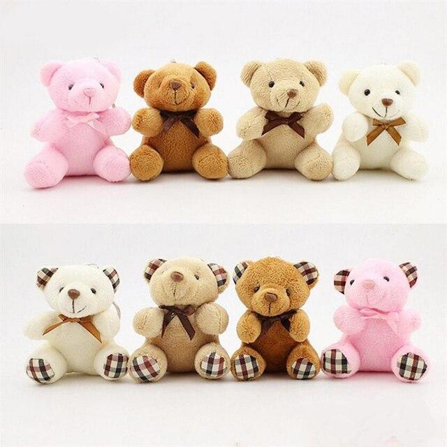 Crianças Brinquedos de Pelúcia Animais Urso Fofo 8 CM Popobe Urso de Peluche Bonito Brinquedos de Pelúcia Saco Keychain Chave Do Carro Titular para pingente Boneca B0750