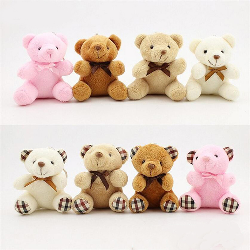 Kids Toys Stuffed Animals Fluffy Bear 8CM Popobe Teddy Bear Cute Plush Toys Bag Keychain Car Key Holder for Pendant Doll B0750 baby kids children kawaii plush toys cute teddy bear stuffed animals doll brinquedos juguetes