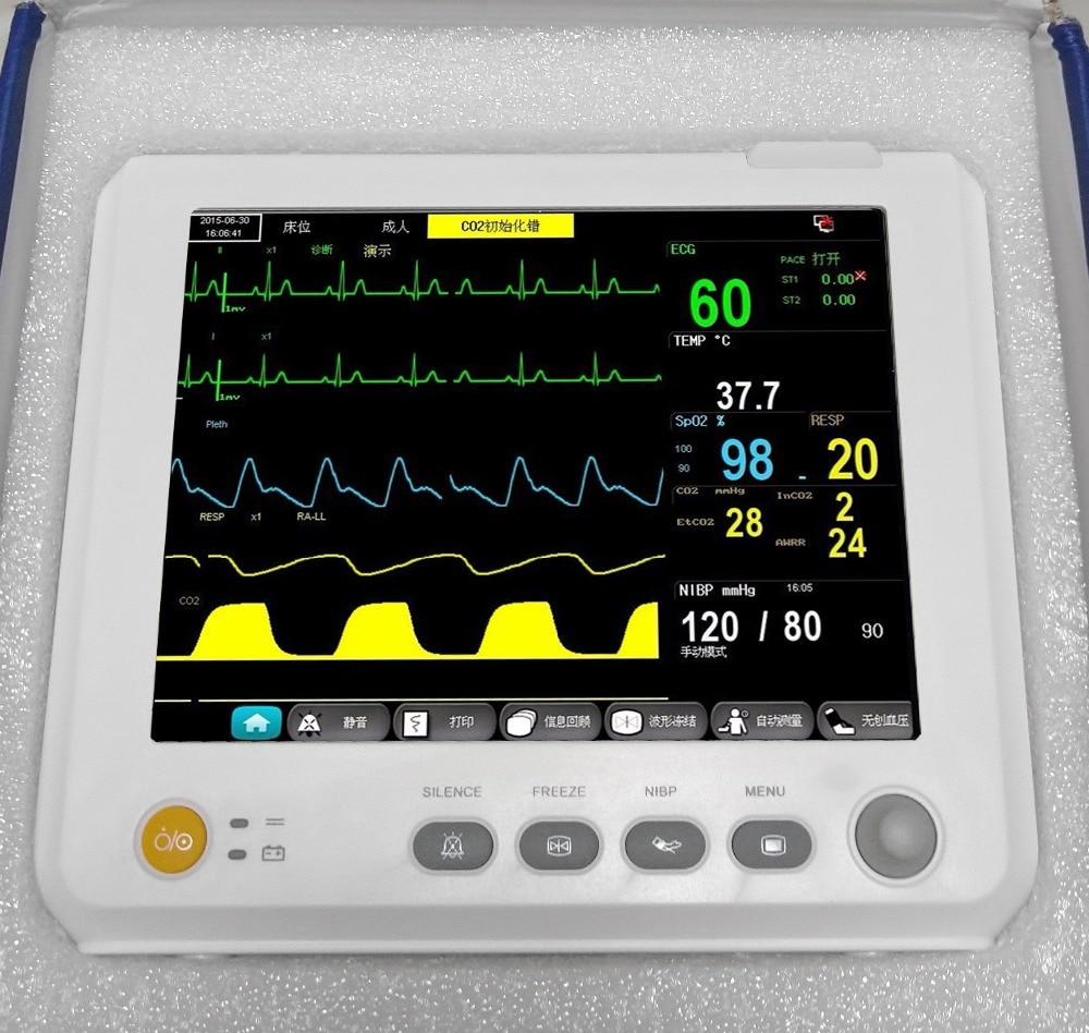 2018 equipment ICU Patient Monitor Vital Sign with ECG+NIBP+SPO2+PR 1y Warranty
