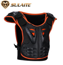 SULAITE Children Kids Outdoor Sports Armor Vest Suitable Skateboard Skiing Riding Chest Protector Guards mooto taekwondo red blue chest guard vest protector body gear wtf kta approved chest protector adult kids tkd protector guards