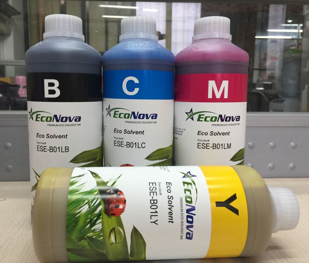 4 color/set Inktec EcoNova Premium Eco Solvent Ink 1000ml Bottle ESE-B01L 4colors set 1000ml universal bottle ink eco solvent ink eco max ink for roland mimaki mutoh