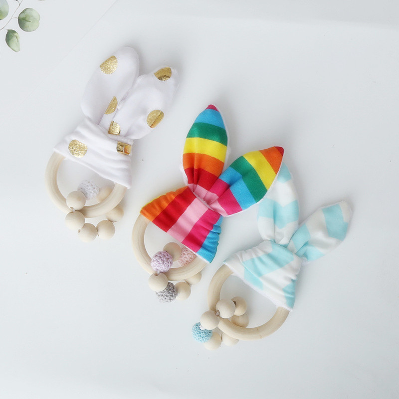 Diy Holz Webstuhl Kaninchen Ohr Perlen Spielzeug Für Kinder Hängen Ornamente Kinderzimmer Krippe Weiche Kunst Und Handwerk Fotografie Requisiten