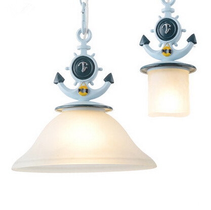 Mediterranean Sea LED Pendant Lights Glass Creative Art Hanglamp Fixtures For Cafe Bar Dinning Home Lighting Lamparas Colgantes