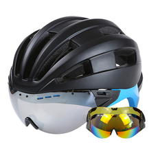 Goggles Cycling Helmet CE Certification Ultralight Road Mountain MTB Bike Bicycle Helmet With Goggles Glasses Casco Ciclismo