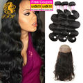 Brazilian Virgin Hair Body Wave Stema Hair With Frontal Closure 360 Closure With Bundles Pre Plucked 360 Frontal With Bundles