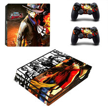 One Piece PS4 PRO Skin Sticker for Sony PS4P Console and 2 Controllers Decal Cover Game Accessories(China)