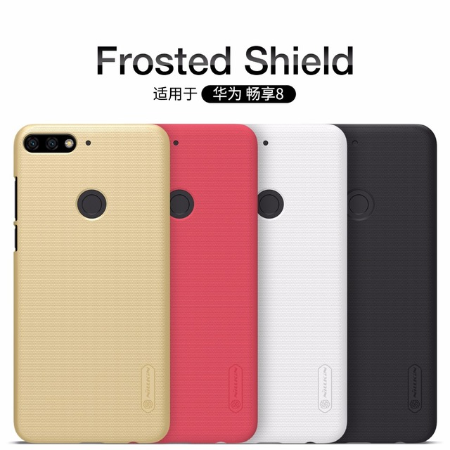huge selection of 638da bc39b US $7.19 5% OFF|Case For Huawei Y7 Prime 2018 /Y9 2018 NILLKIN Super  Frosted Shield matte hard back cover case +free screen protector-in  Half-wrapped ...