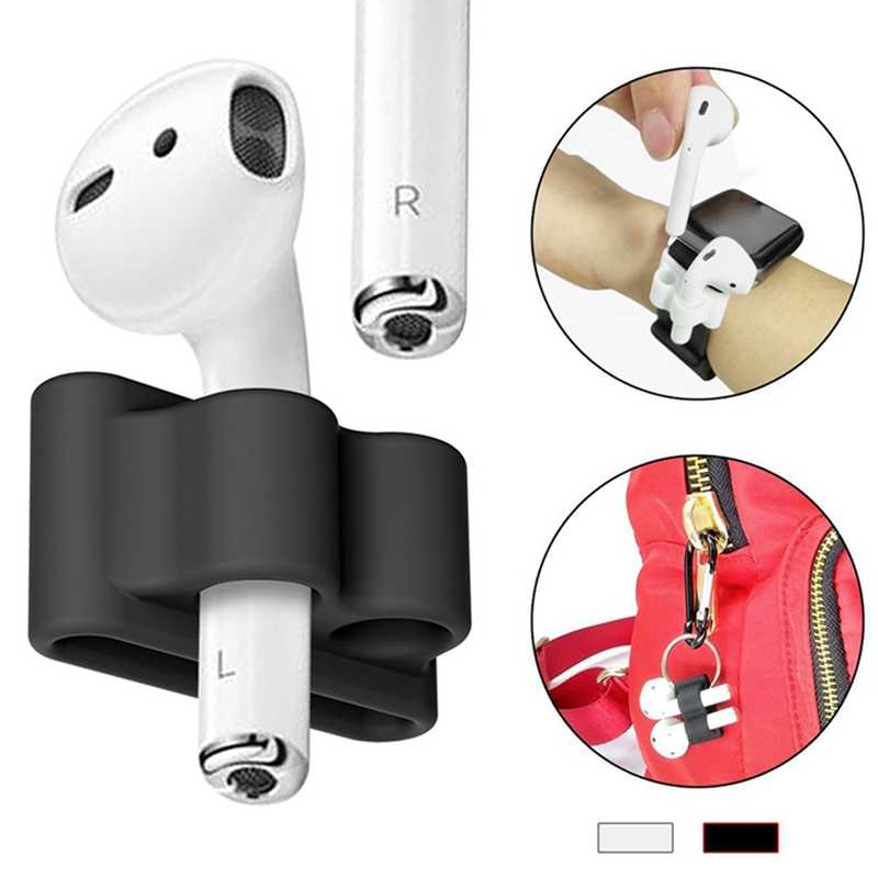 Anti-lost Silicone Holder Earphone Case For AirPods Holder Portable Anti-lost Strap Silicone Case For Apple Air Pod Accessories