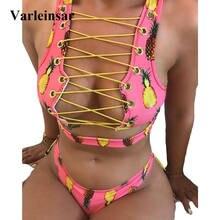 Dwuczęściowy sznurowany strój kąpielowy Varleinsar