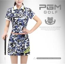 PGM 2017 Newest Women s Golf Shorts skirt Summer Golf Sportswear Floral Print Short Sleeve Polo