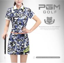 PGM 2017 Newest Women's Golf Shorts skirt Summer Golf Sportswear Floral Print Short Sleeve Polo Lady elastic skirt 3COLORS