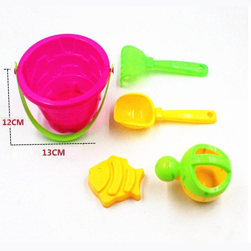 SLPF 5 piece set Castle Bucket Spade Shovel Rake Water Tool Sand Kids summer game Beach Sand Dune Toys For Children Gift New L16