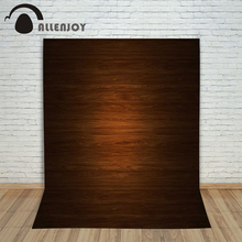Allenjoy photographic background Wood grain brown backdrops baby newborn photo Excluding bracket 8×8