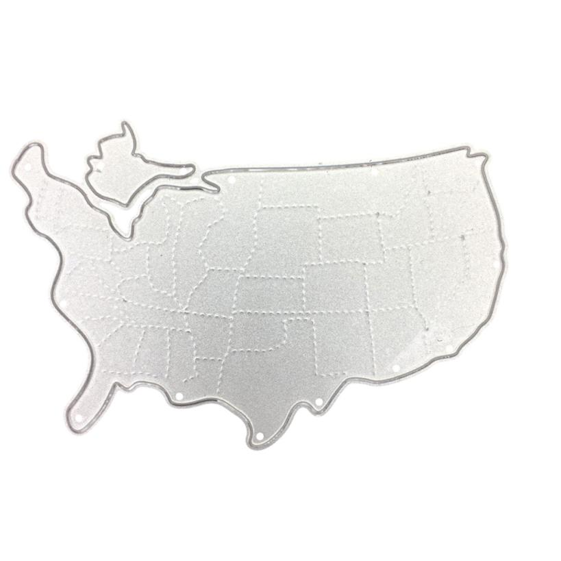 House LC New United States 2018 Football Game National Map Metal Cutting Dies Stencil DIY Embossing Hot 18Apr18 Drop Ship