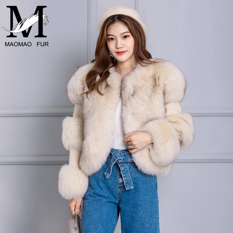 Femmes hiver réel manteau de fourrure de renard veste grande fourrure à manches longues manteaux fourrure de renard lapin fourrure couture pardessus