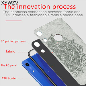 Image 3 - Huawei Honor 8A Pro Shockproof Soft TPU Siliconen Doek Textuur Hard PC Telefoon Case Huawei Honor 8A Pro Back Cover honor 8A Pro