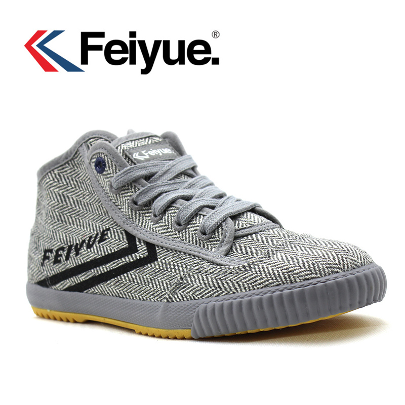 Chinese Kung Fu Shoes Feiyue Shoes Men Tai Chi Women Slipper Martial Art Taekwondo Shoes Male Chinese Kungfu Gray Sneaker Canvas