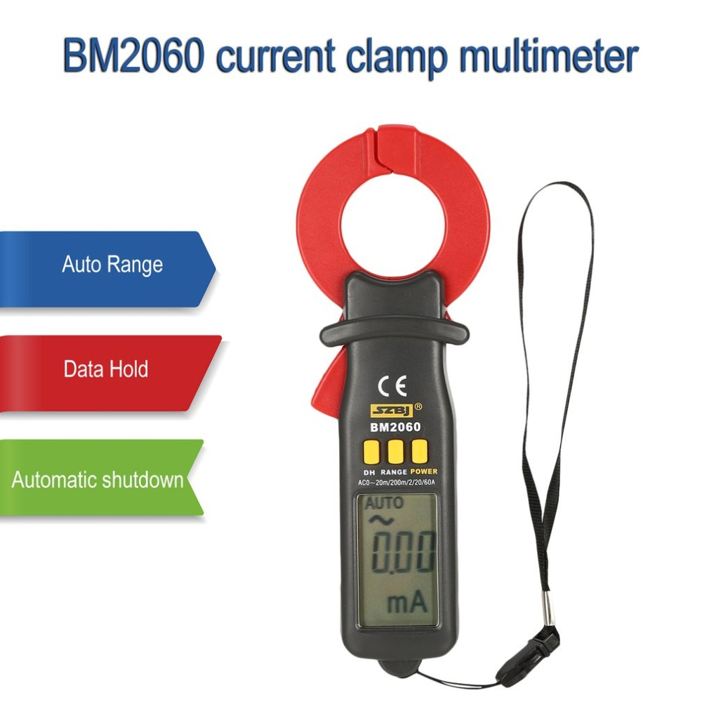 SZBJ BM2060 Current digital clamp meters Multimeters Micro electric current clamp ampere meter Manual range Data holdSZBJ BM2060 Current digital clamp meters Multimeters Micro electric current clamp ampere meter Manual range Data hold