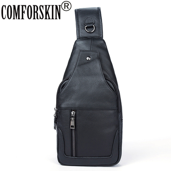 COMFORSKIN Brand Bolsa Masculina New Arrivals European And American Chest Bags 2020 Luxurious Genuine Leather Cross-body Bags