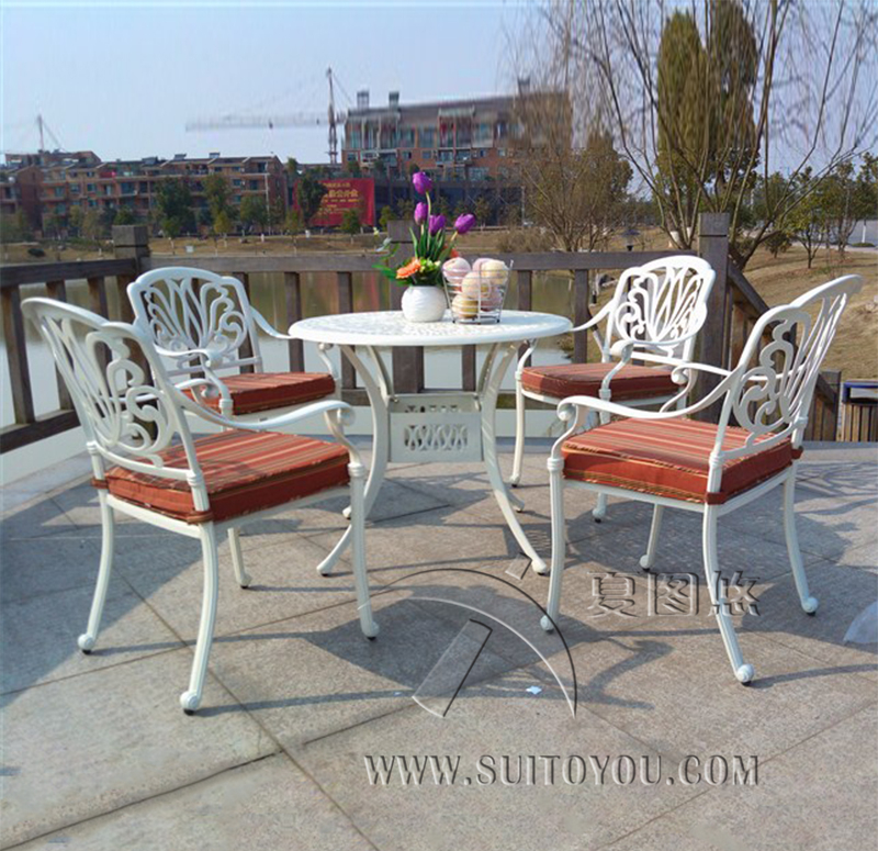 5 Piece Cast Aluminum Patio Furniture Garden Furniture Outdoor Furniture  Durable And Used For Years