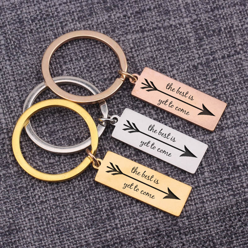 Keyrings Dec. The Best Is Yet To Come Inspirational Keychain Multicolor Jewelry Chaveiros Porte Clef Brelok Friends Present