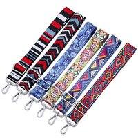 Nylon Gekleurde Riem Zakken Riem Accessoires voor Vrouwen Regenboog Verstelbare Schouder Hanger Handtas Bandjes Decoratieve Handvat Ornament