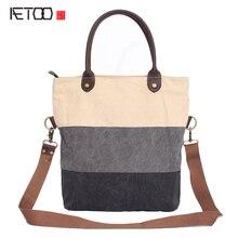 AETOO Новый холст сумка безумие плечевой ремень женская сумка