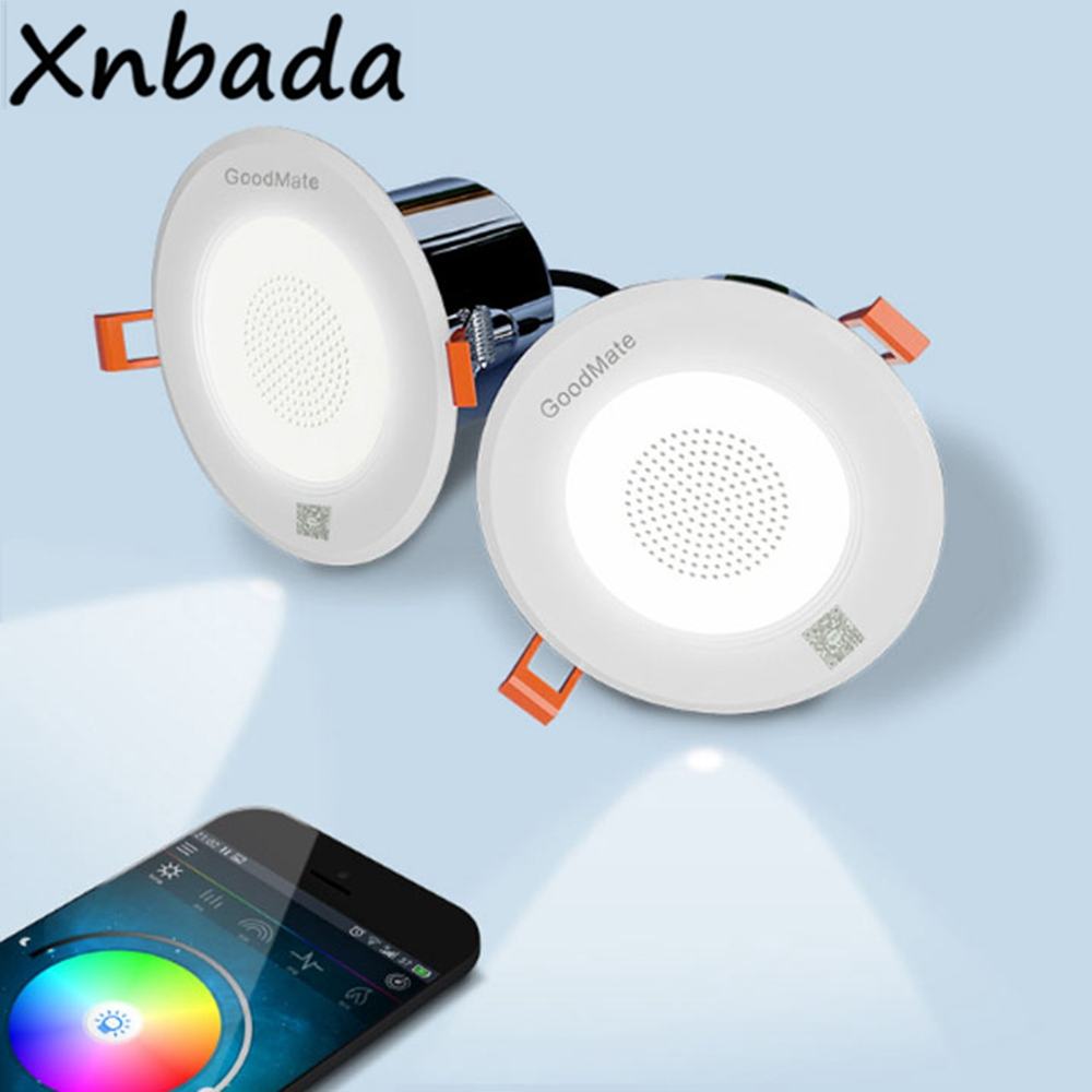 2Pcs Smart Music Dimmable Led Downlight Multifunctional Celling Round Recessed Lamp Light With Extension Cord AC100